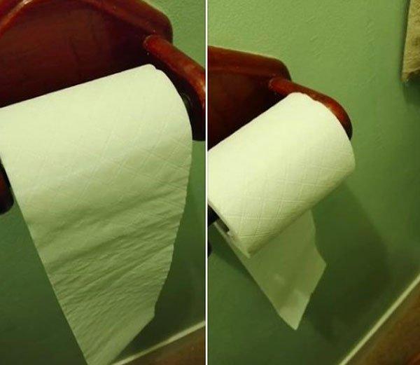卫生纸该怎么挂才对?