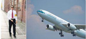 國泰航空杯揭發嚴重事故,機長突然失明仍然繼續飛