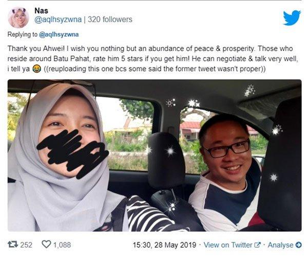 华裔Grab司机服务超体贴,马来小姐姐超感动