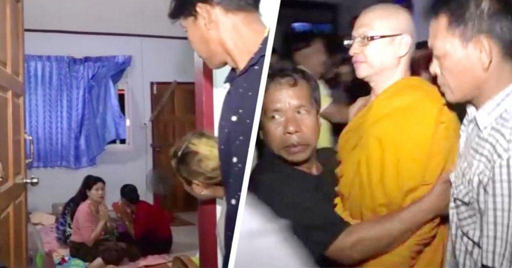 泰国方丈好福气,禅房私藏5缅甸妹
