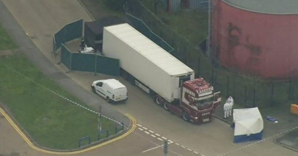 英国货柜车,惊见39条尸