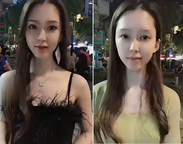 """美女挑战""""街头卸妆"""" 网民:初恋了"""